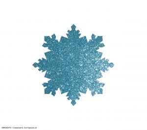 Вырубка ''Снежинка-6, 5 см'' , глиттерный фоамиран 2 мм (1уп = 20шт)
