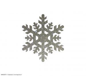 `Вырубка ''Снежинка-2, 4 см'' , глиттерный фоамиран 2 мм