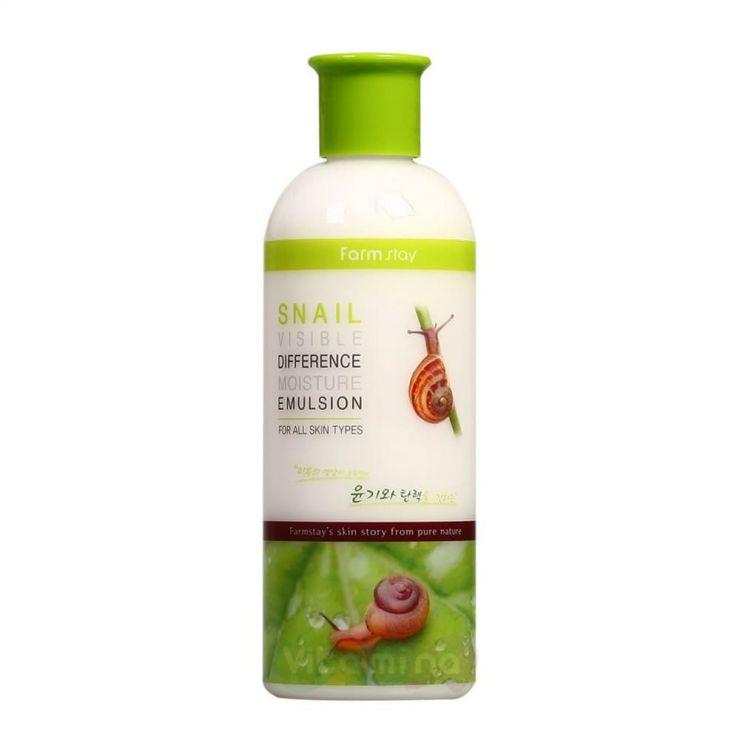 FarmStay Увлажняющая эмульсия с муцином улитки Snail Visible Difference Moisture Emulsion, 350 мл