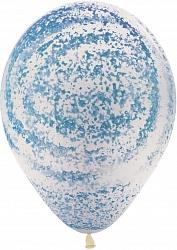 Голубой вихрь шар латексный с гелием