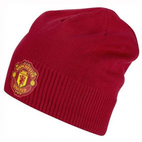 Шапка adidas Manchester United Football Club Beanie красная