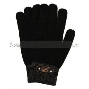 Перчатки мужские с серой манжетой