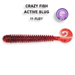 """Мягкая приманка Crazy Fish Active Slug 2,8"""" 71мм / упаковка 8 шт / цвет: 11-1 (запах анис)"""