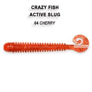 "Мягкая приманка Crazy Fish Active Slug 2,8"" 71мм / упаковка 8 шт / цвет: 4-2 (запах рыбы)"