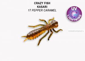 "Мягкая приманка Crazy Fish Kasari ( Плавающий) 1"" 27мм / упаковка 8 шт / цвет: 17-7 (запах креветка+кальмар)"