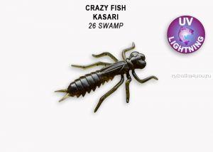 "Мягкая приманка Crazy Fish Kasari ( Плавающий) 1"" 27мм / упаковка 8 шт / цвет: 26-7 (запах креветка+кальмар)"