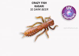 "Мягкая приманка Crazy Fish Kasari ( Плавающий) 1"" 27мм / упаковка 8 шт / цвет: 32-7 (запах креветка+кальмар)"