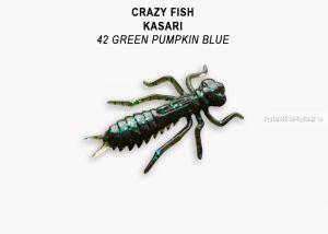 "Мягкая приманка Crazy Fish Kasari ( Плавающий) 1"" 27мм / упаковка 8 шт / цвет: 42-7 (запах креветка+кальмар)"