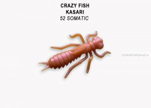 "Мягкая приманка Crazy Fish Kasari 1,6"" 40мм / упаковка 6 шт/ цвет: 52-7 (запах креветка+кальмар)"
