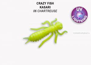 "Мягкая приманка Crazy Fish Kasari 1,6"" 40мм / упаковка 6 шт/ цвет: 6-7 (запах креветка+кальмар)"