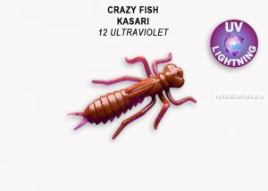 "Мягкая приманка Crazy Fish Kasari (Плавающий) 1,6"" 40мм / упаковка 6 шт/ цвет: 12-7 (запах креветка+кальмар)"