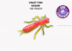 "Мягкая приманка Crazy Fish Kasari (Плавающий) 1,6"" 40мм / упаковка 6 шт/ цвет: 13d-7 (запах креветка+кальмар)"