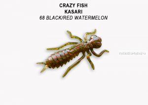 "Мягкая приманка Crazy Fish Kasari (Плавающий) 1,6"" 40мм / упаковка 6 шт/ цвет: 68-7 (запах креветка+кальмар)"