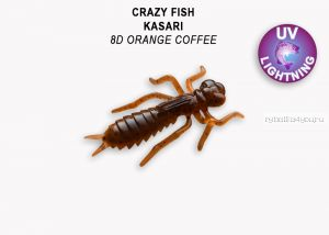 "Мягкая приманка Crazy Fish Kasari (Плавающий) 1,6"" 40мм / упаковка 6 шт/ цвет: 8d-7 (запах креветка+кальмар)"