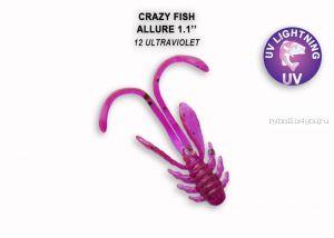 """Мягкая приманка Crazy Fish Allure 1,1"""" 27мм / упаковка 10 шт / цвет: 12-6 (запах кальмар)"""
