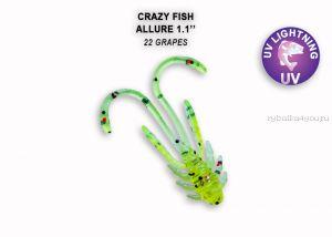 """Мягкая приманка Crazy Fish Allure 1,1"""" 27мм / упаковка 10 шт / цвет: 22-6 (запах кальмар)"""