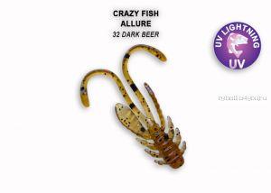 """Мягкая приманка Crazy Fish Allure 1,1"""" 27мм / упаковка 10 шт / цвет: 32-6 (запах кальмар)"""