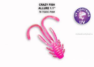 """Мягкая приманка Crazy Fish Allure 1,1"""" 27мм / упаковка 10 шт / цвет: 76-6 (запах кальмар)"""