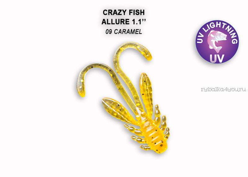 """Мягкая приманка Crazy Fish Allure 1,1"""" 27мм / упаковка 10 шт / цвет: 9-6 (запах кальмар)"""