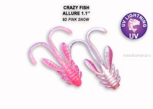 "Мягкая приманка Crazy Fish Allure 1,1"" 27мм / упаковка 10 шт / цвет: 9d-6 (запах кальмар)"