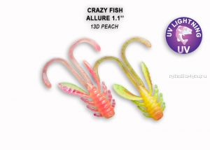 "Мягкая приманка Crazy Fish Allure 1,6"" 40мм / упаковка 8 шт / цвет: 13d-6 (запах кальмар)"
