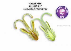 "Мягкая приманка Crazy Fish Allure 1,6"" 40мм / упаковка 8 шт / цвет: 30d-6 (запах кальмар)"