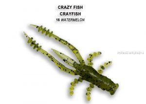 """Мягкая приманка Crazy Fish Crayfish 1,8"""" 45мм / упаковка 8 шт / цвет:16-6 (запах кальмар)"""