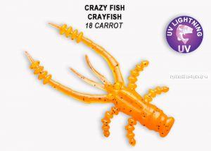 """Мягкая приманка Crazy Fish Crayfish 1,8"""" 45мм / упаковка 8 шт / цвет:18-6 (запах кальмар)"""