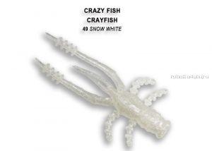 """Мягкая приманка Crazy Fish Crayfish 1,8"""" 45мм / упаковка 8 шт / цвет:49-6 (запах кальмар)"""