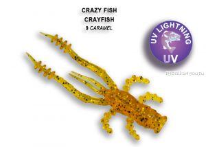 """Мягкая приманка Crazy Fish Crayfish 1,8"""" 45мм / упаковка 8 шт / цвет:9-6 (запах кальмар)"""