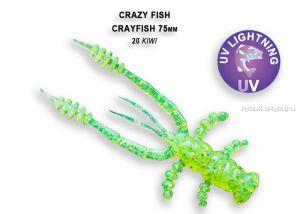 """Мягкая приманка Crazy Fish Crayfish 3"""" 75мм / упаковка 7 шт / цвет:20-6 (запах кальмар)"""