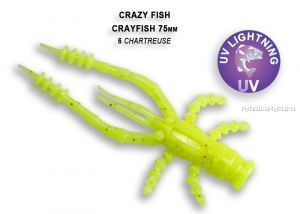 """Мягкая приманка Crazy Fish Crayfish 3"""" 75мм / упаковка 7 шт / цвет:6-6 (запах кальмар)"""