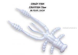 """Мягкая приманка Crazy Fish Crayfish 3"""" 75мм / упаковка 7 шт / цвет:66-6 (запах кальмар)"""