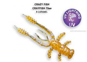"""Мягкая приманка Crazy Fish Crayfish 3"""" 75мм / упаковка 7 шт / цвет:9-6 (запах кальмар)"""