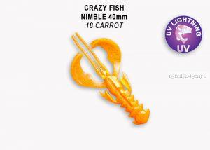 "Мягкая приманка Crazy Fish Nimble 1,6"" 40мм / упаковка 9 шт / цвет:18-6 (запах кальмар)"
