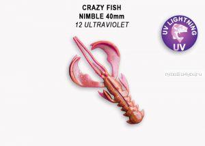"Мягкая приманка Crazy Fish Nimble 2,5"" 65мм / упаковка 7 шт / цвет:12-6 (запах кальмар)"