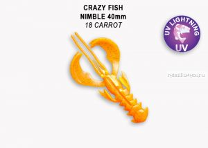 "Мягкая приманка Crazy Fish Nimble 2,5"" 65мм / упаковка 7 шт / цвет:18-6 (запах кальмар)"