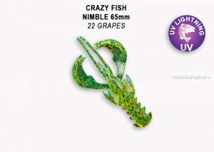 "Мягкая приманка Crazy Fish Nimble 2,5"" 65мм / упаковка 7 шт / цвет:22-6 (запах кальмар)"