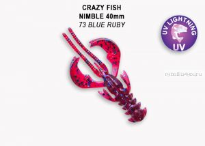 "Мягкая приманка Crazy Fish Nimble 2,5"" 65мм / упаковка 7 шт / цвет:73-6 (запах кальмар)"