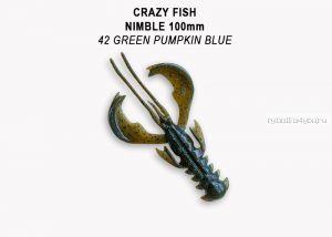"Мягкая приманка Crazy Fish Nimble 4"" 100мм / упаковка 5 шт / цвет:42-6 (запах кальмар)-V"