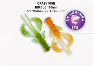 "Мягкая приманка Crazy Fish Nimble 5"" 125мм / упаковка 3 шт / цвет:5d-6 (запах кальмар)"