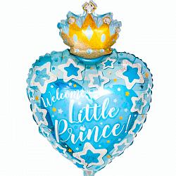 Добро пожаловать, маленький принц! шар фольгированный с гелием