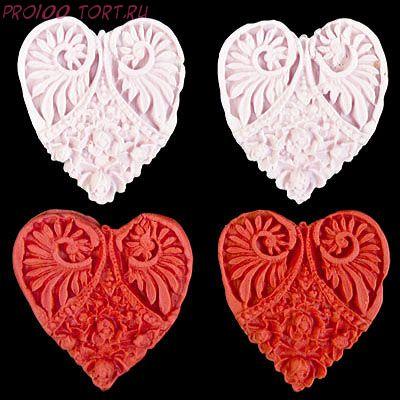 Сахарные фигурки сердечки 2шт/уп
