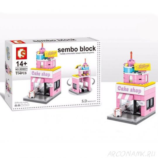 Конструктор Sembo Block Mini World, Cake shop