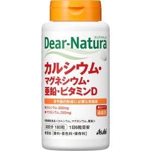 Кальций, магний, цинк, витамин Д  Asahi Dear Natura на 30 дней.