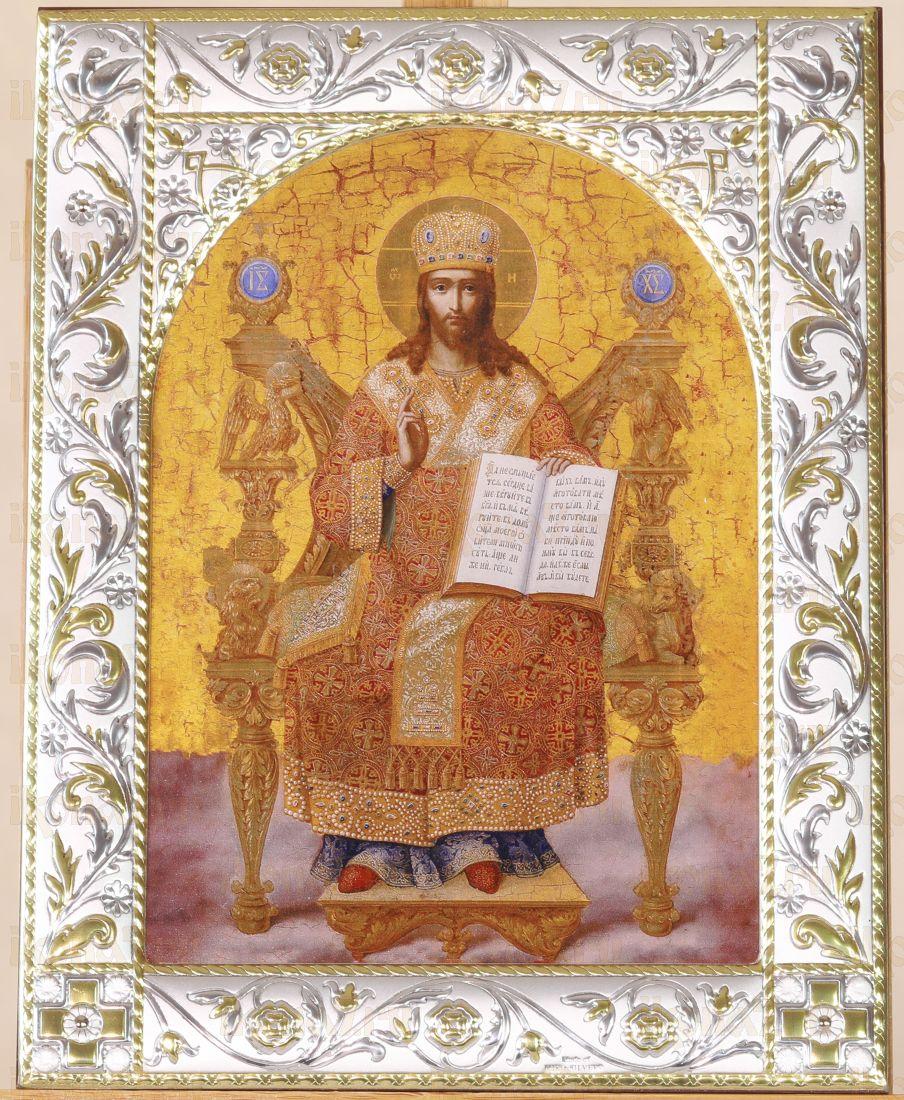 Икона Господь Вседержитель (на троне) (18х24см) (14х18см)