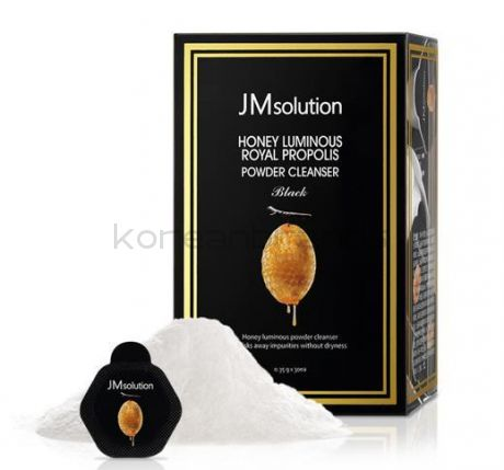 JM SOLUTION HONEY LUMINOUS ROYAL PROPOLIS POWDER CLEANSER Black
