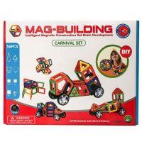 Магнитный конструктор MAG-BUILDING56 деталей (колеса+карусель)