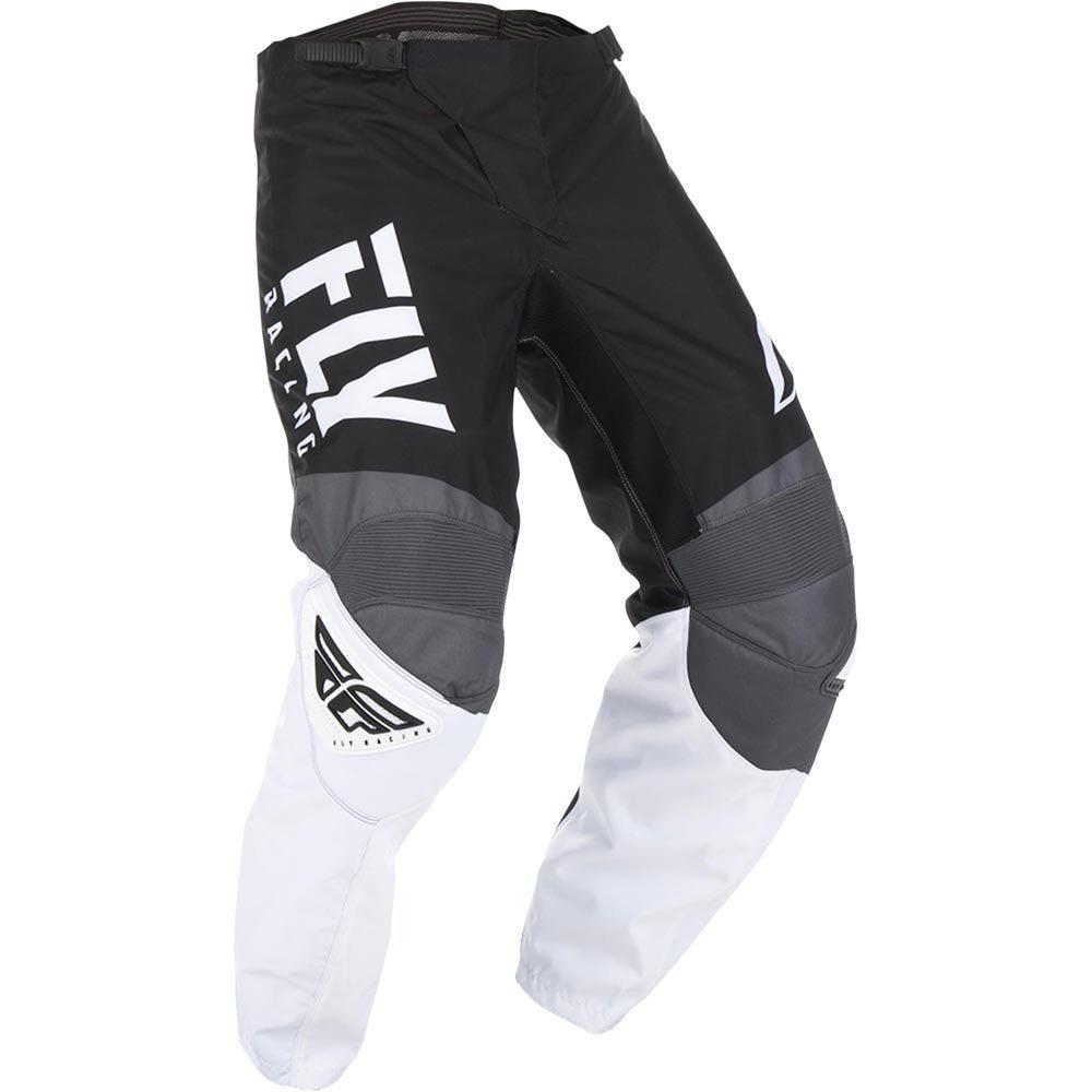 Fly Racing - 2019 F-16 Black/White/Grey штаны, черно-бело-серые