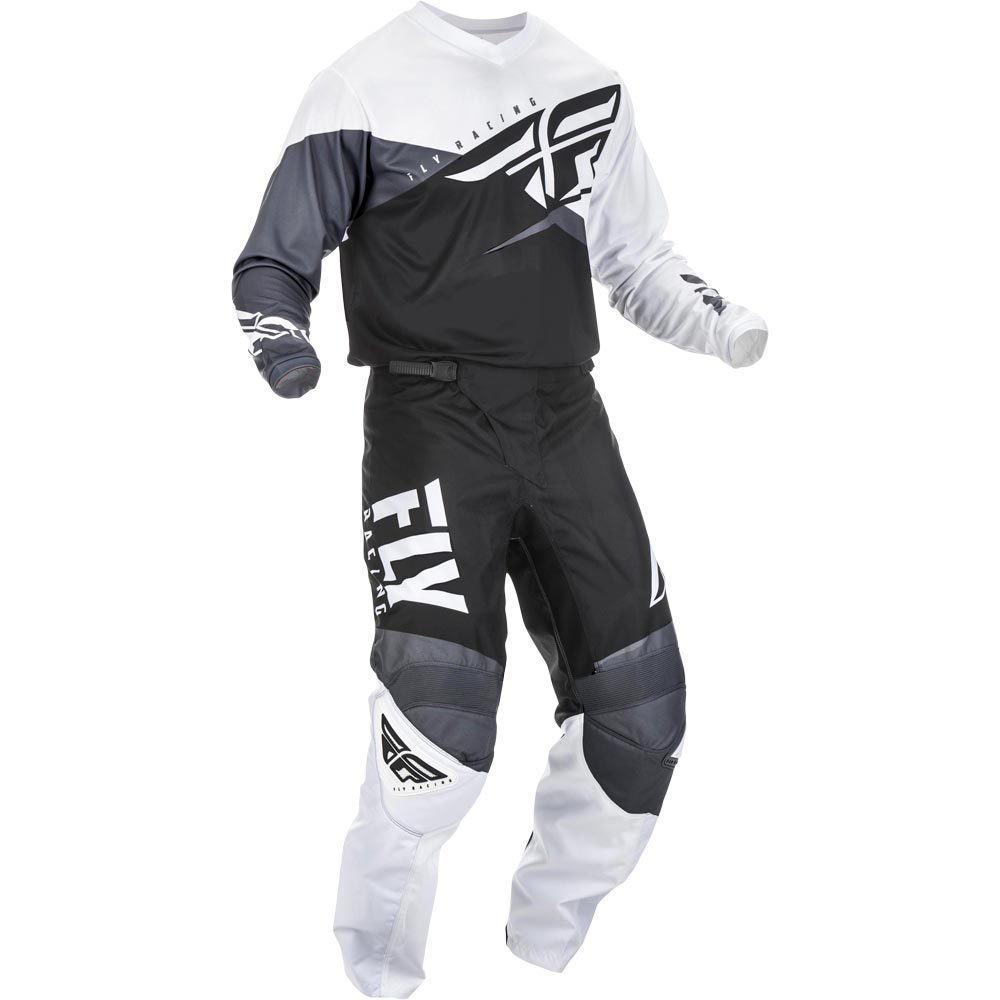 Fly Racing 2019 F-16 Jersey and Pants Combo Black//White//Gray L,38